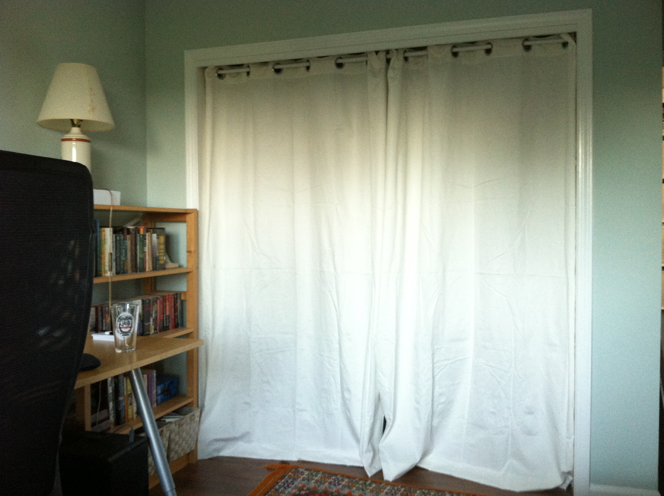 Attractive Curtains In Closet